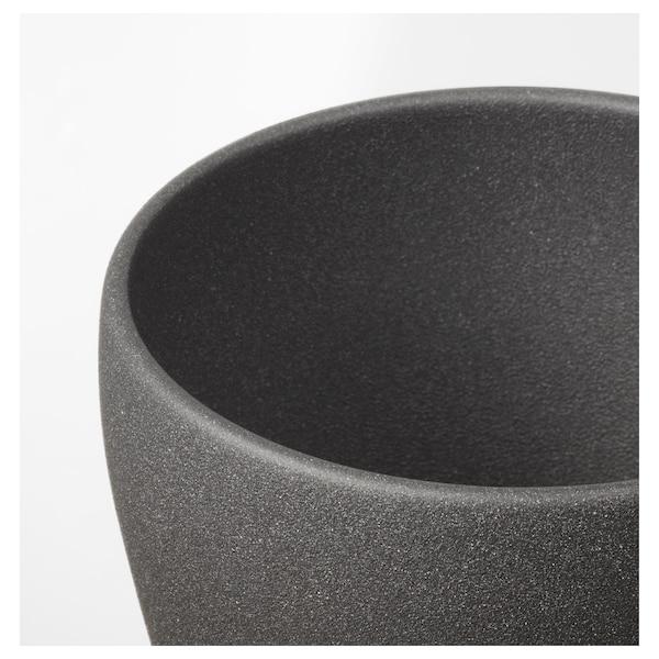 """PERSILLADE plant pot dark gray 5 """" 5 ½ """" 4 ¾ """" 5 """""""