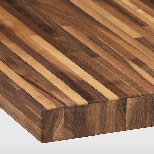 "PINNARP Countertop, walnut/veneer, 98x1 1/2 """