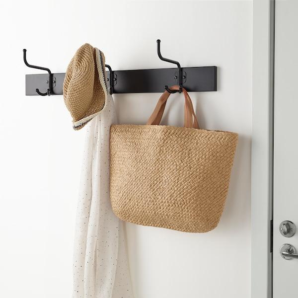 PINNIG Rack with 3 hooks, black