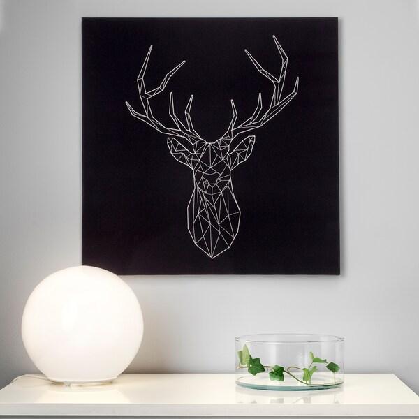 """PJÄTTERYD Picture, silver deer, 22x22 """""""