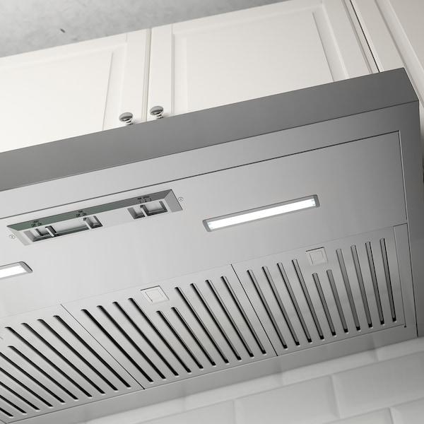 PLANENLIG Under cabinet range hood, Stainless steel