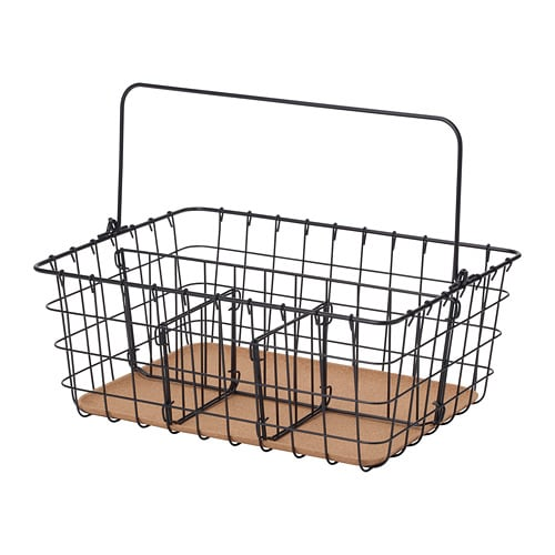 pleja wire basket with handle ikea