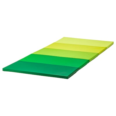 "PLUFSIG folding gym mat green 72 7/8 "" 30 3/4 "" 1 1/4 """