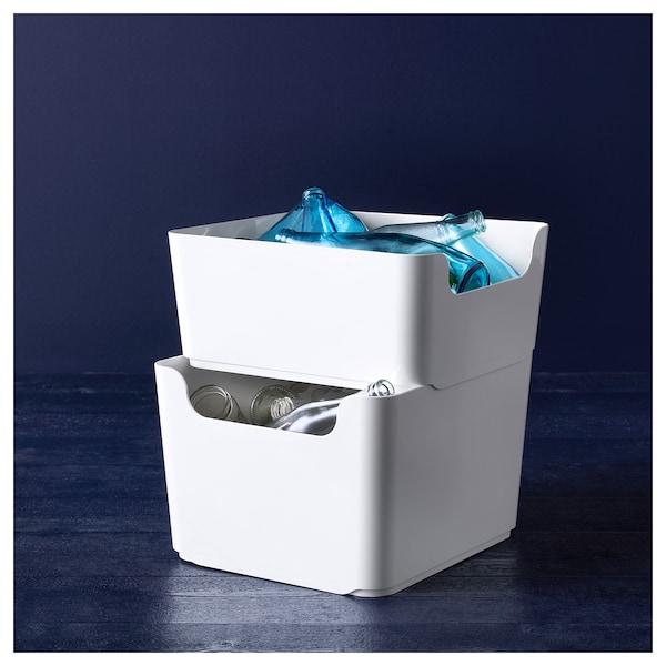 PLUGGIS Recycling bin, white, 4 gallon