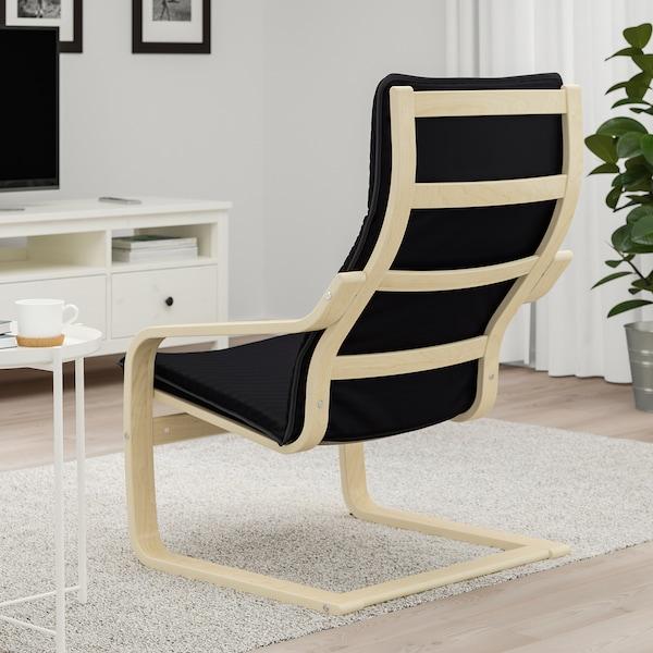 POÄNG Armchair, birch veneer/Knisa black