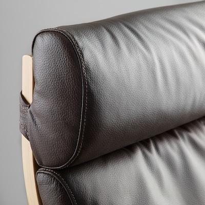 """POÄNG chair cushion Glose dark brown 53 7/8 """" 22 """" 2 3/4 """""""