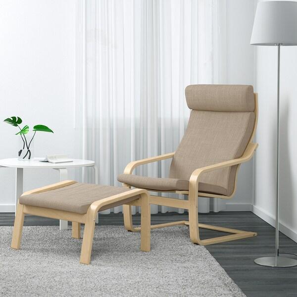 POÄNG Armchair - birch veneer, Hillared beige - IKEA