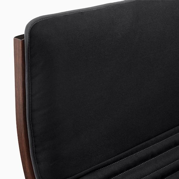 "POÄNG armchair brown/Knisa black 26 3/4 "" 32 1/4 "" 39 3/8 "" 22 "" 19 5/8 "" 16 1/2 """