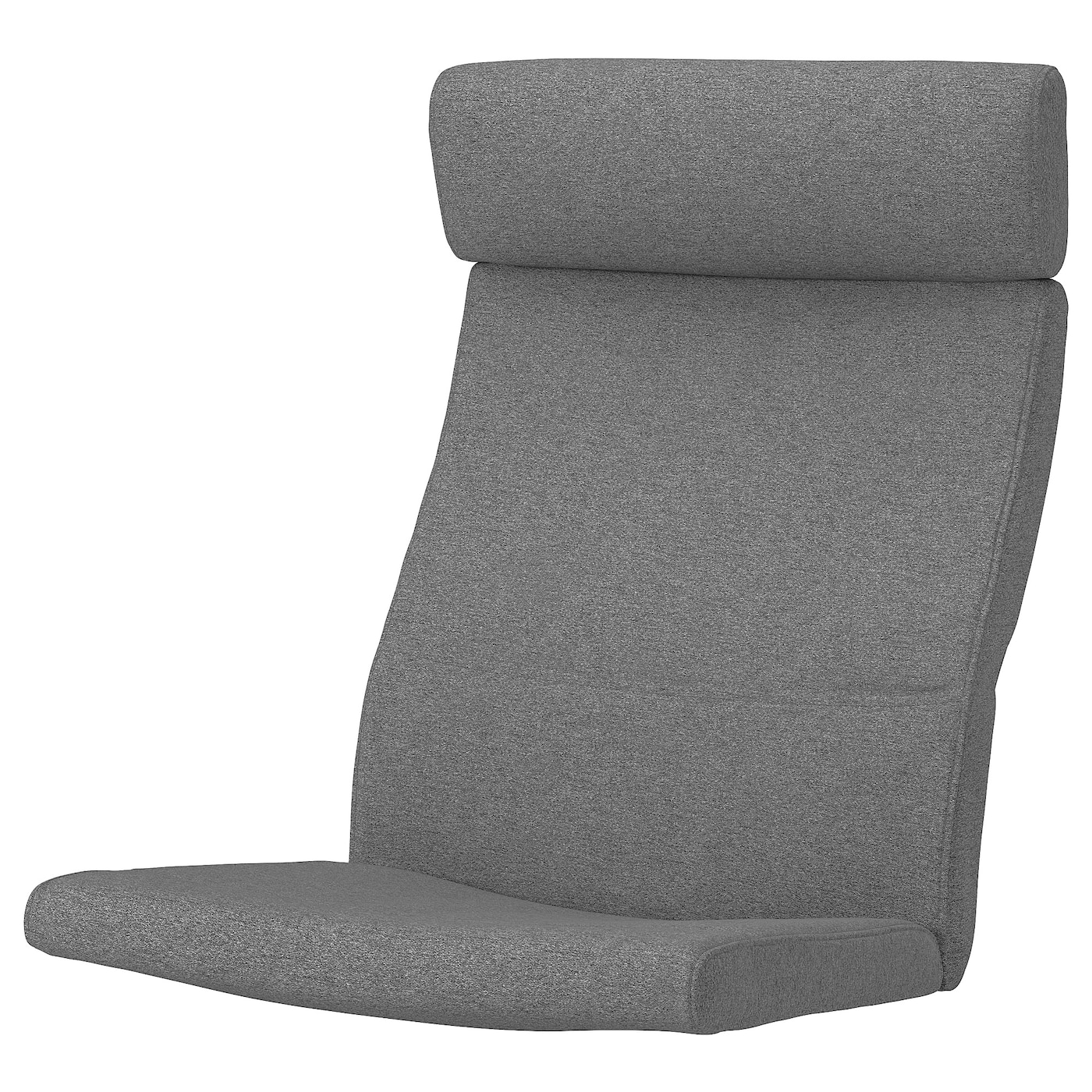 Picture of: Poang Chair Cushion Lysed Gray Ikea