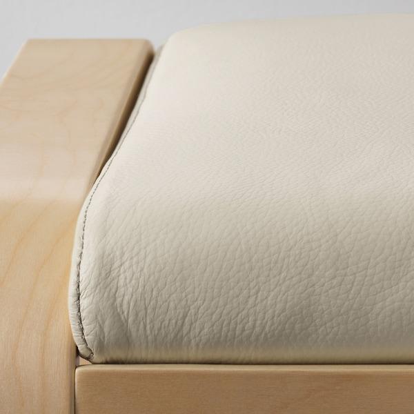 POÄNG Ottoman, birch veneer/Glose off-white