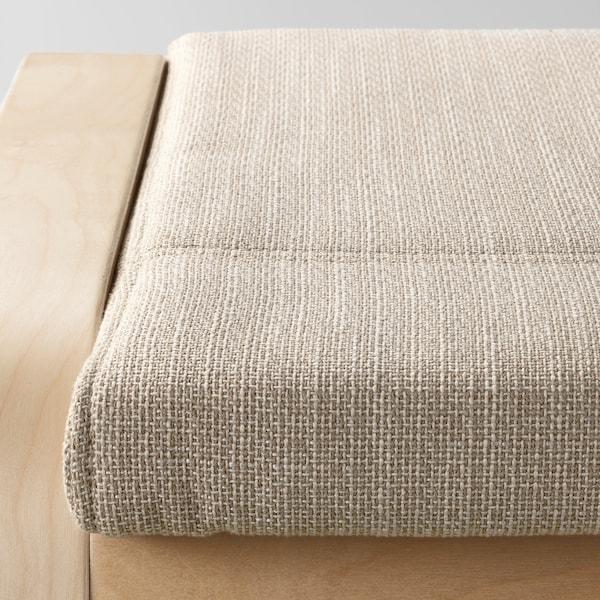 POÄNG Ottoman, birch veneer/Hillared beige