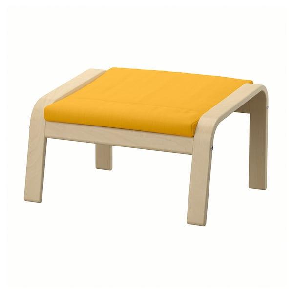 POÄNG Ottoman, birch veneer/Skiftebo yellow