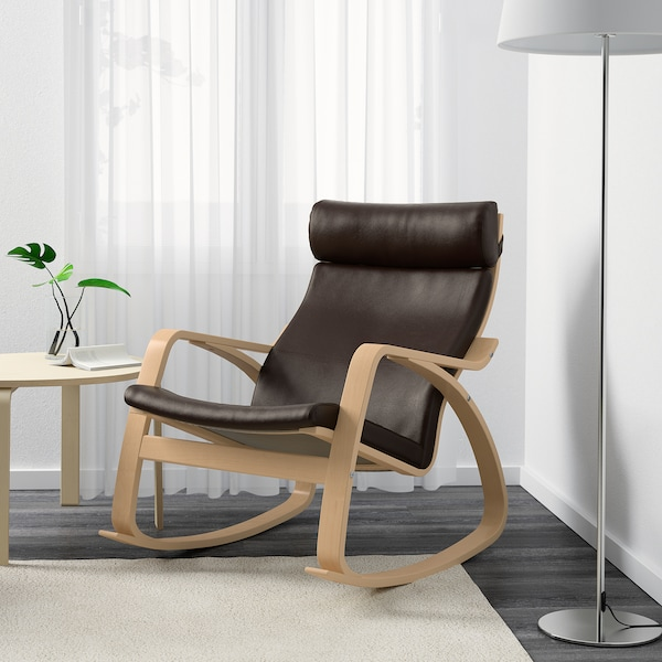 Poang Rocking Chair Glose Dark Brown Width 26 3 4 Find It Here Ikea