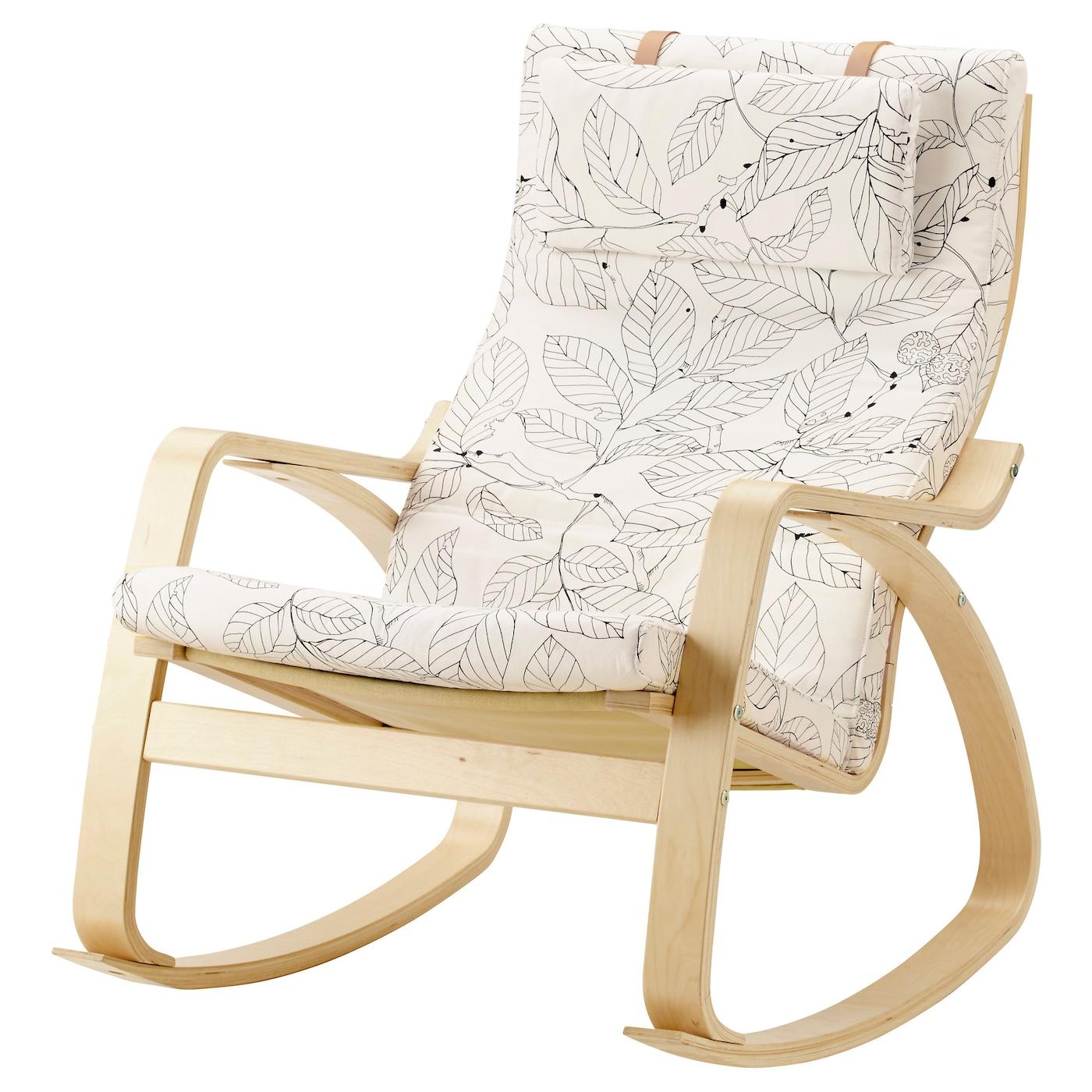 Magnificent Rocking Chair Poang Birch Veneer Vislanda Black White Theyellowbook Wood Chair Design Ideas Theyellowbookinfo