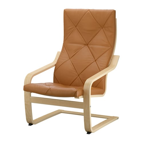 Po ng armchair seglora natural ikea for Ikea poang leather