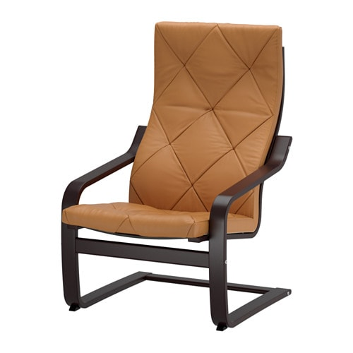 Ikea Schreibtisch Weiß Hochglanz ~ POÄNG Chair IKEA Highly durable full grain leather which is soft and
