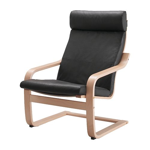 Po ng chair glose black ikea - Coussin chaise ikea ...