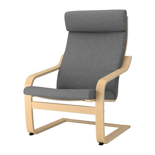ikea poang chair cushion POÄNG Chair cushion   Hillared anthracite   IKEA ikea poang chair cushion