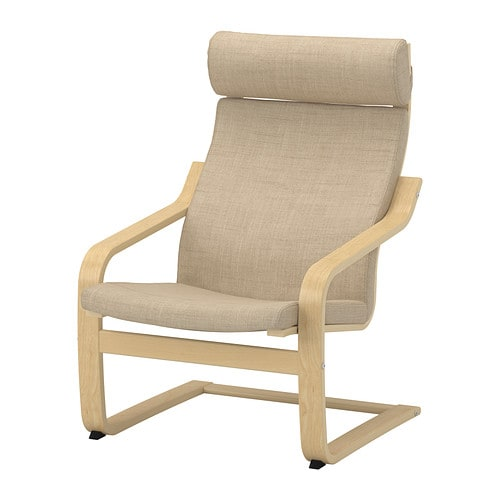 Po ng chair cushion isunda beige ikea - Coussin chaise ikea ...