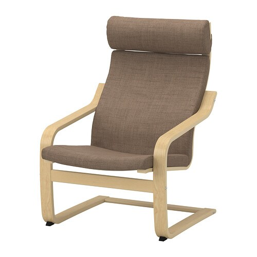 Sale alerts for Ikea POÄNG Chair cushion, Isunda brown - Covvet