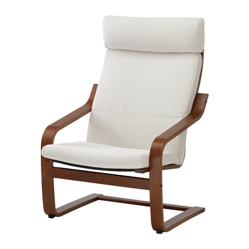 Ikea poang chair medium brown - Red poang chair ...