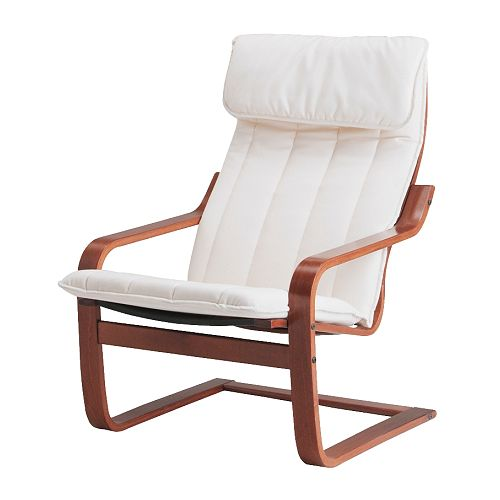Po ng chair alme natural medium brown ikea - Red poang chair ...