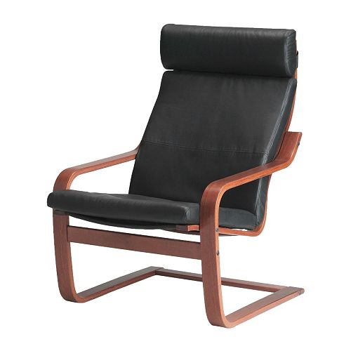 POÄNG Chair IKEA Layer glued bent beech frame gives comfortable