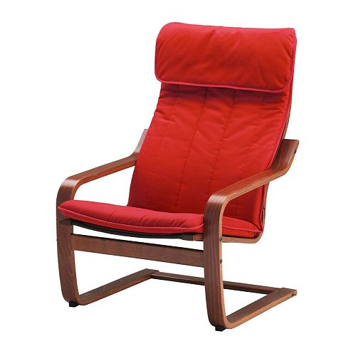 POÄNG Chair IKEA Frame of layer-glued, bent beechwood provides high flexibility and comfort.  High back provides great support for your neck.