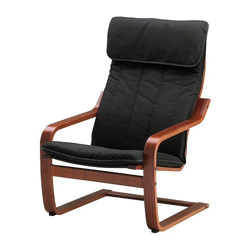 Po ng chair alme black medium brown ikea - Fauteuil relaxation ikea ...