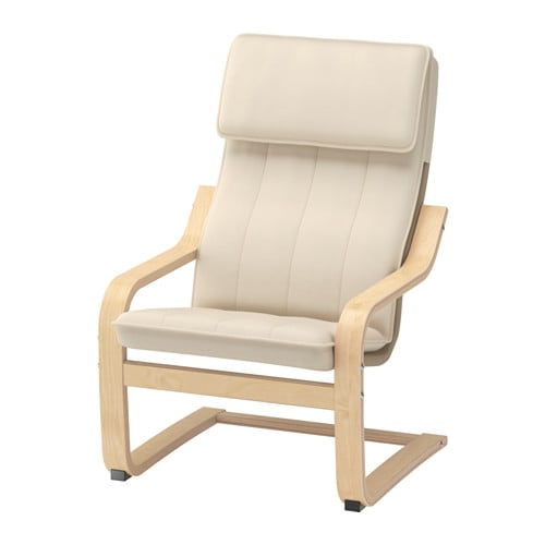 POÄNG Children's armchair - birch veneer/Almås natural - IKEA