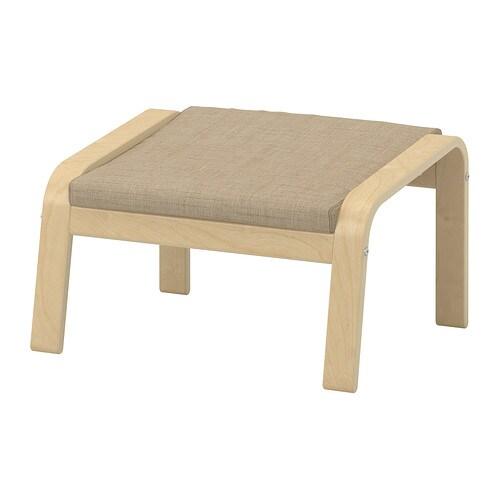 PO u00c4NG Footstool   Isunda beige, birch veneer   IKEA