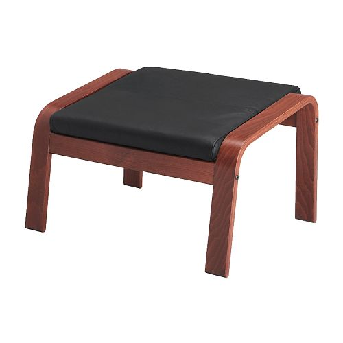 po ng footstool glose black medium brown ikea. Black Bedroom Furniture Sets. Home Design Ideas