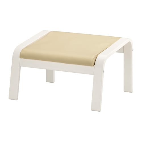 po ng footstool glose off white white ikea. Black Bedroom Furniture Sets. Home Design Ideas