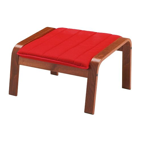 po ng ottoman ransta red ikea. Black Bedroom Furniture Sets. Home Design Ideas