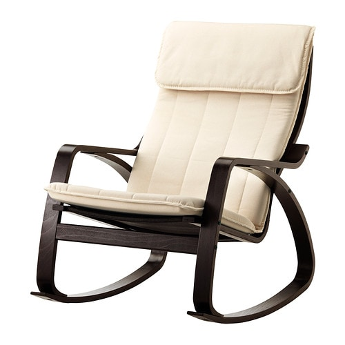 Po ng rocking chair ransta natural ikea - Fauteuil relax ikea cuir ...