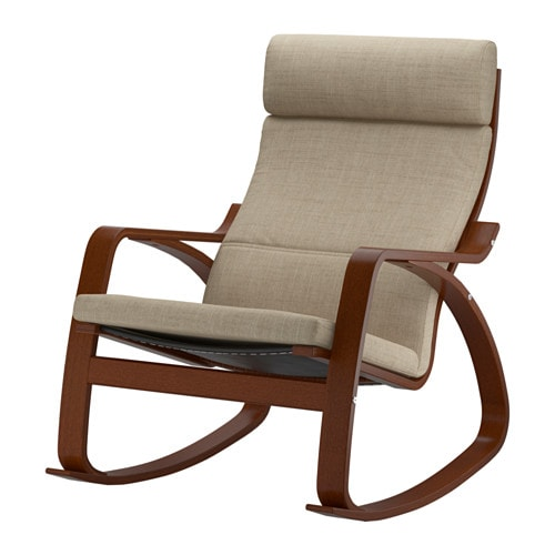 POÄNG Rocking chair IKEA The frame is made of layer-glued bent beech ...