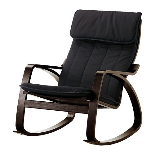 po ng rocking chair alme black black brown ikea. Black Bedroom Furniture Sets. Home Design Ideas