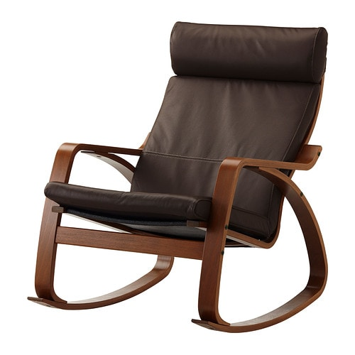 Po 196 Ng Rocking Chair Glose Dark Brown Ikea