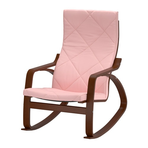 Po ng rocking chair edum pink ikea Chaise confortable