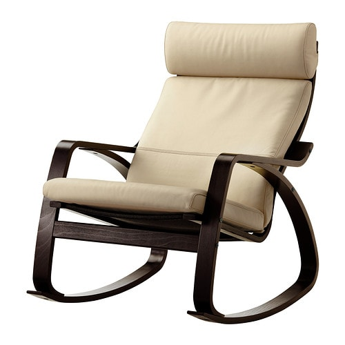 Po ng rocking chair glose off white ikea - Fauteuil rockincher ikea ...