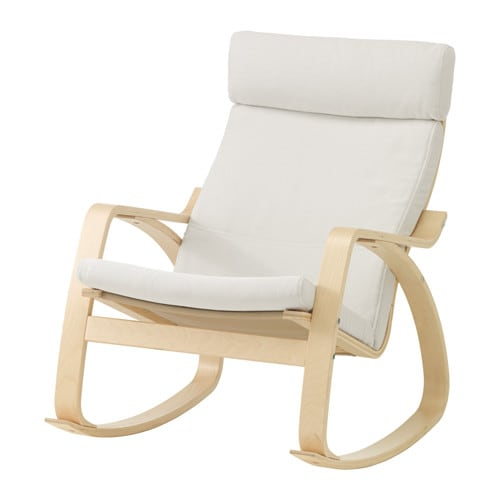 Po ng rocking chair finnsta white ikea for Chaise 0 bascule
