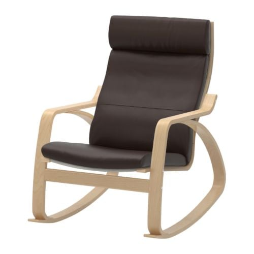 POÄNG Rocking chair IKEA Frame made of layer-glued bent birch; a very strong and durable material.