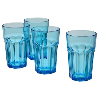 POKAL Glass, blue, 12 oz