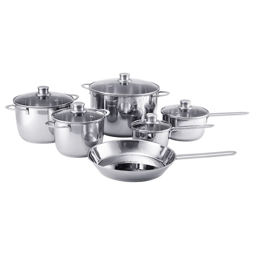 IKEA POLERAD 11-piece cookware set