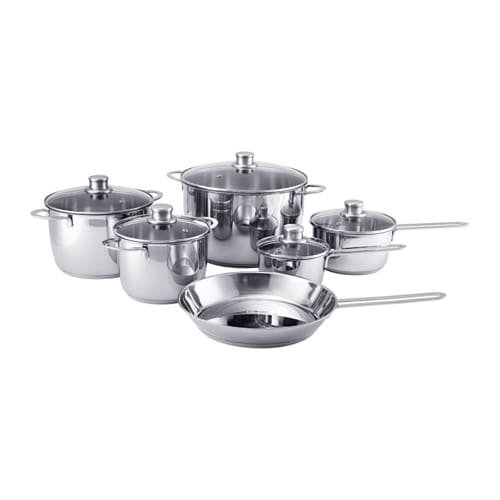 Polerad 11 piece cookware set ikea - Ikea cuisine plaque induction ...