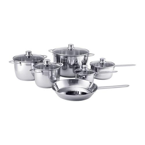 Polerad 11 Piece Cookware Set Ikea