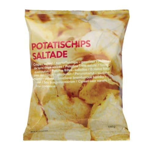 Ikea Snack potatischips saltade salted potato chips - ikea
