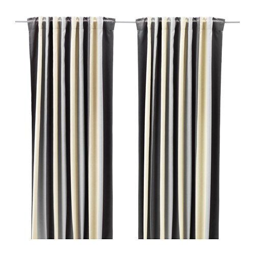 praktlilja block out curtains 1 pair ikea. Black Bedroom Furniture Sets. Home Design Ideas