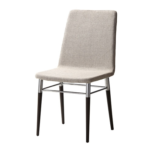 PREBEN Chair, brown-black, Tenö light gray