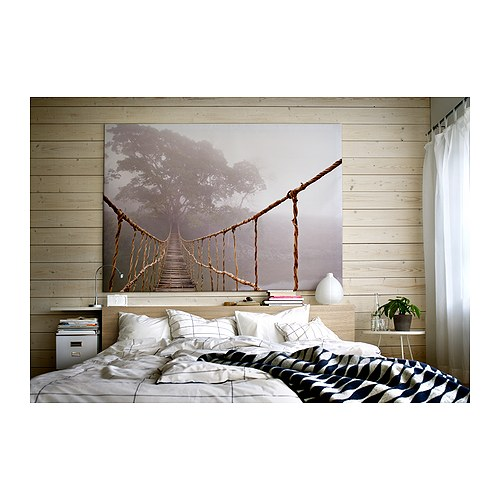 Ikea jungle journey rope bridge picture photo art canvas for Quadri moderni ikea
